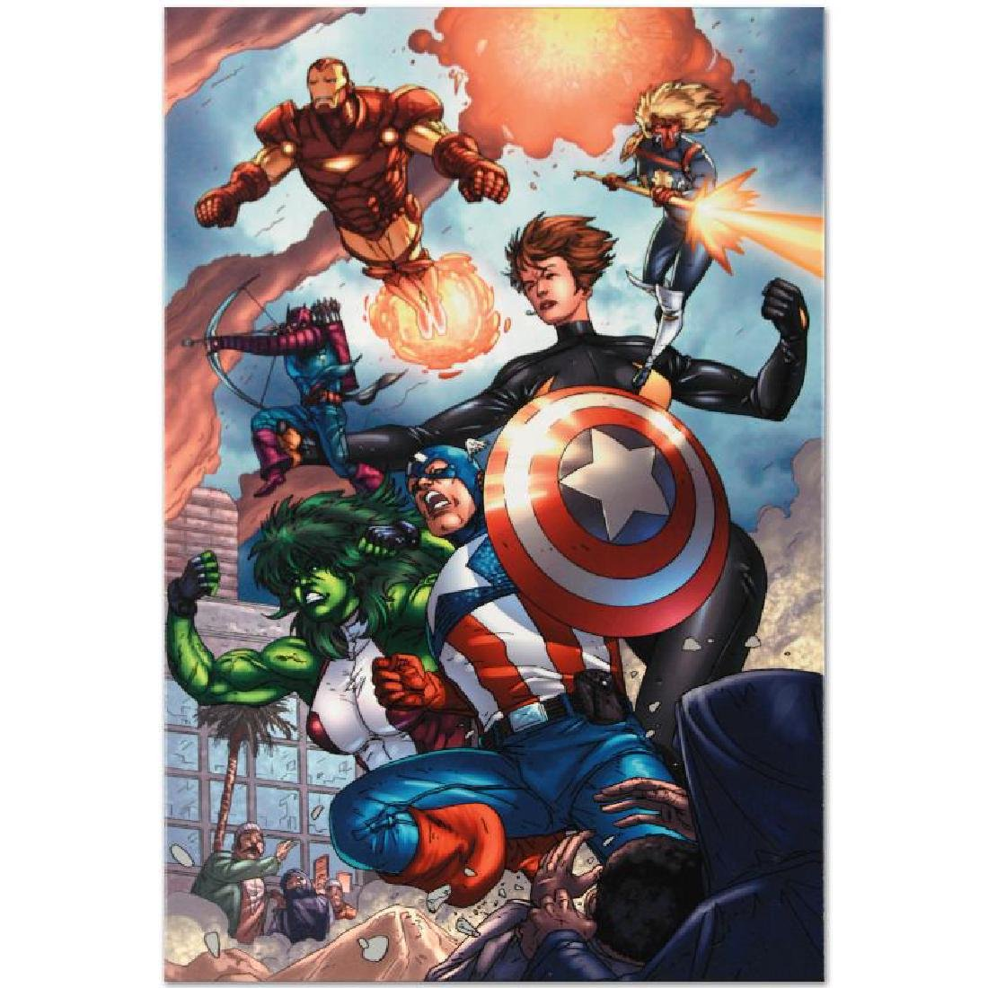 """""""Avengers #84"""" LIMITED EDITION Giclee on Canvas by - 5"""