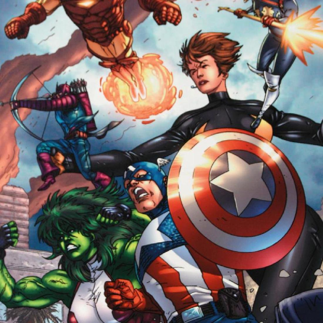 """""""Avengers #84"""" LIMITED EDITION Giclee on Canvas by - 6"""