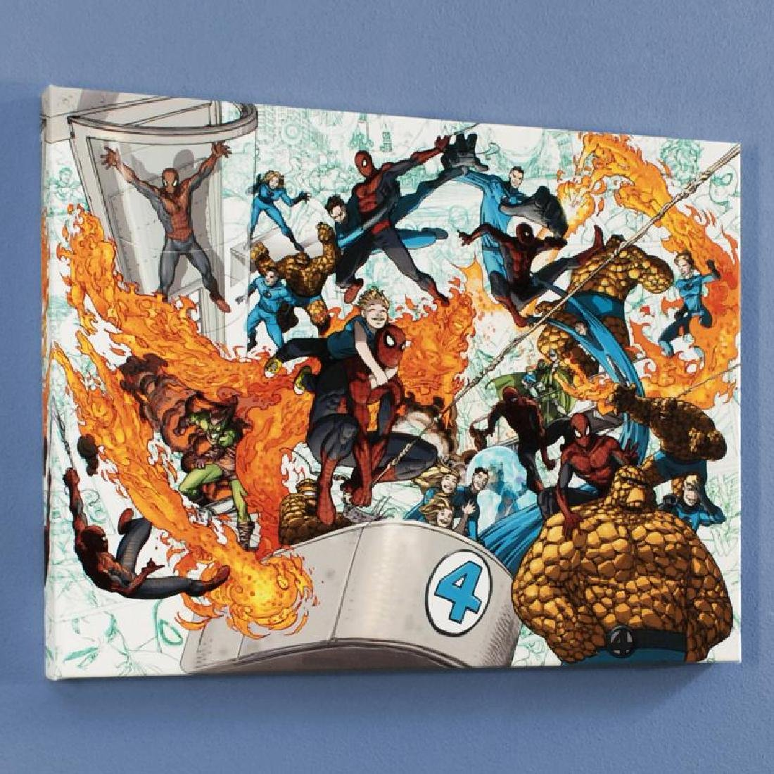 """Spider-Man/Fantastic Four #4"" Limited Edition Giclee"