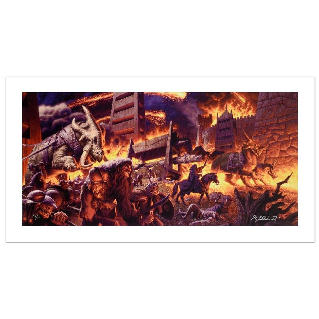 """The Siege Of Minas Tirith"" Limited Edition Giclee on - 4"