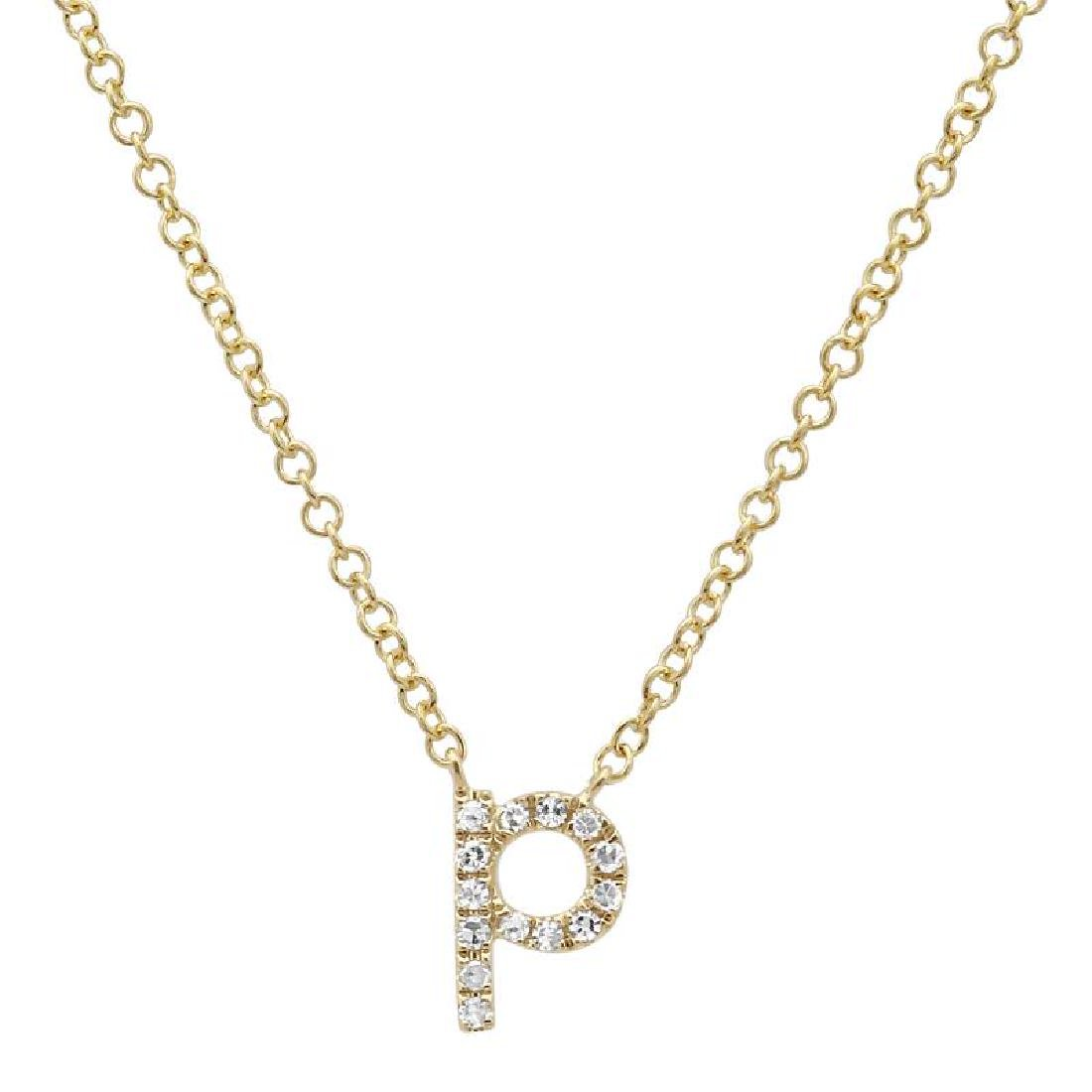 14KT Yellow Gold Diamond Necklace