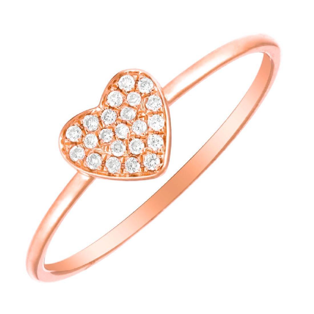 14KT Rose Gold Women's Diamond Ring