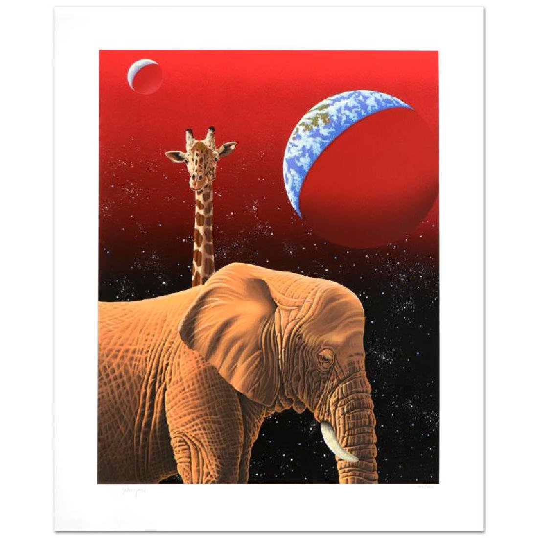 """Our Home Too I - Elephants"" Limited Edition Serigraph - 3"