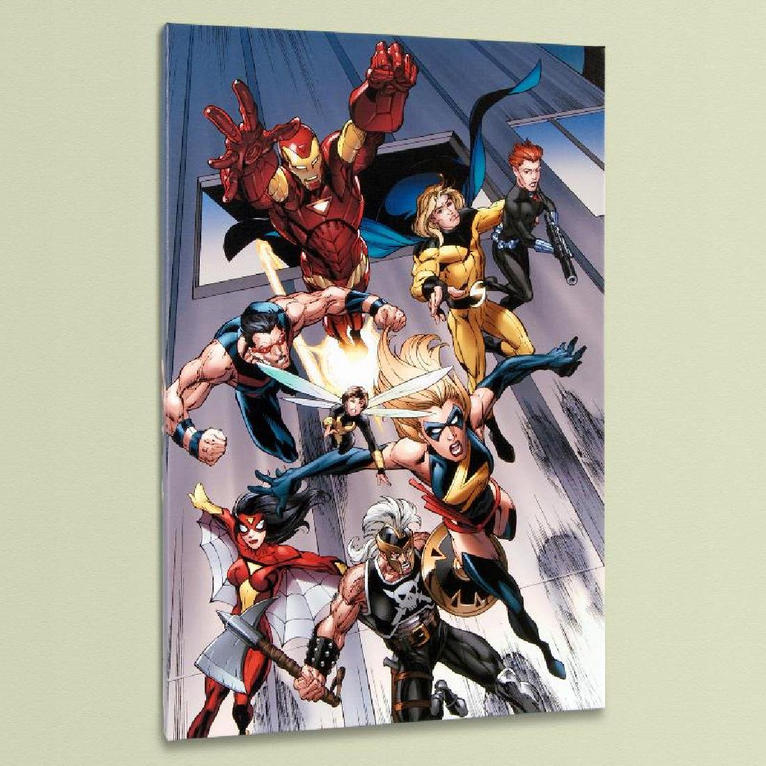 """""""The Mighty Avengers #7"""" LIMITED EDITION Giclee on"""