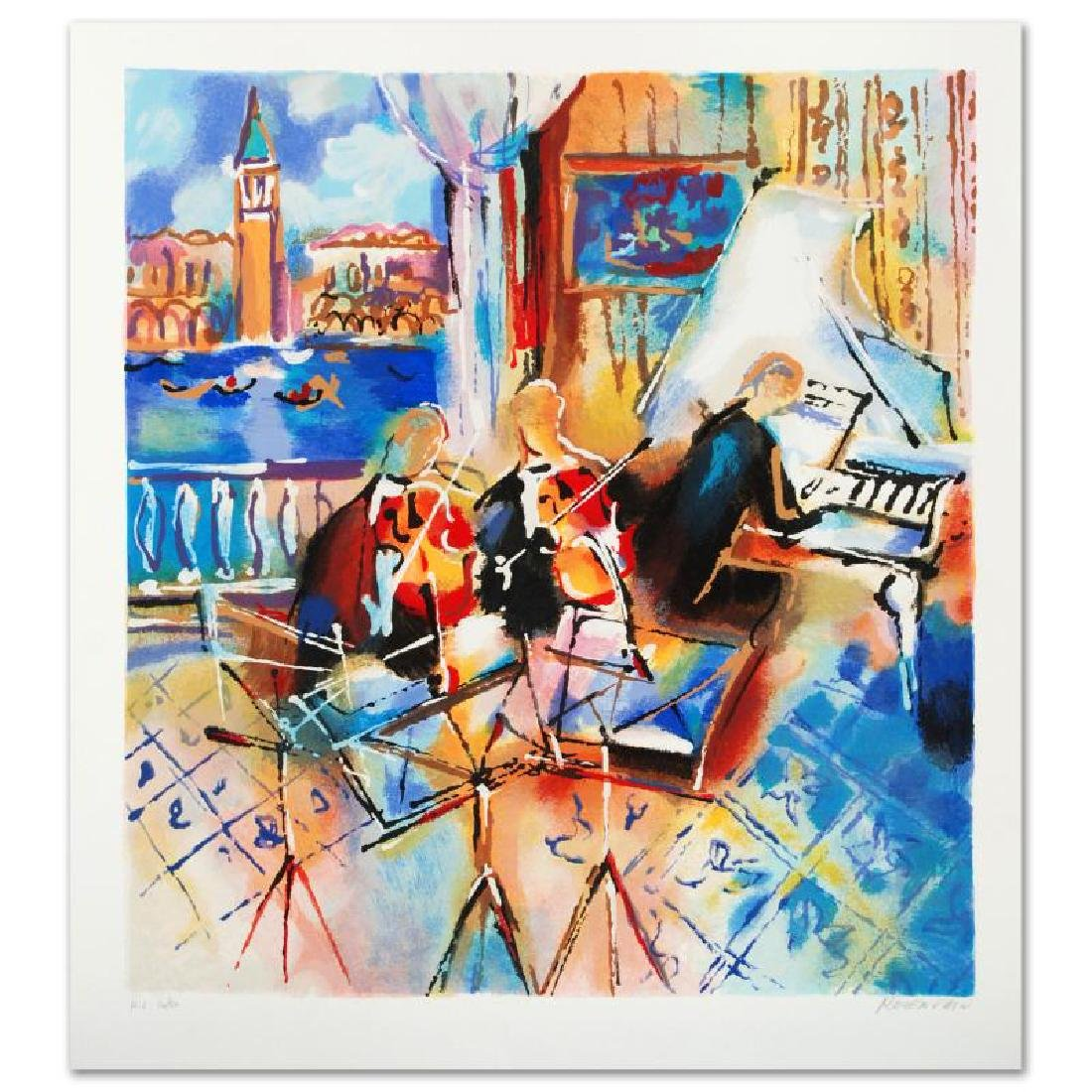 """""""Venetian Melody"""" Limited Edition Serigraph by Michael"""