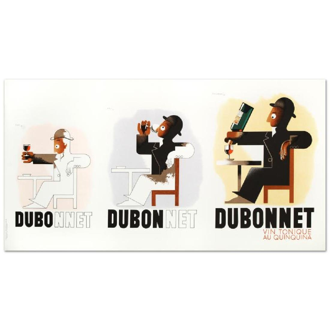 """""""Dubo Dubon Dubonnet"""" Hand Pulled Lithograph by the RE - 3"""