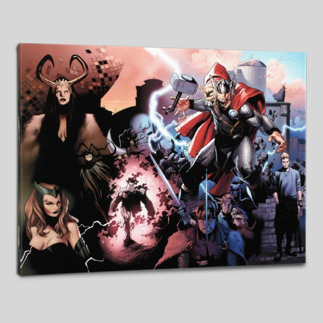 """Thor #600"" Limited Edition Giclee on Canvas by Oliver - 2"