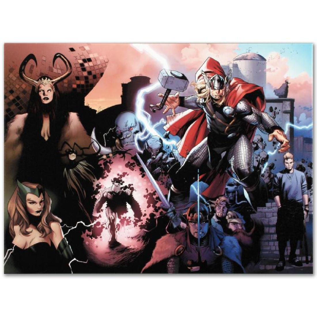 """Thor #600"" Limited Edition Giclee on Canvas by Oliver - 4"
