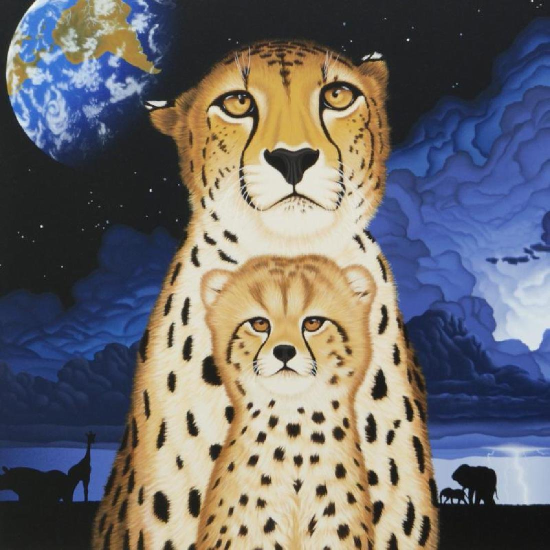 """""""Guardians of the Night"""" Limited Edition Serigraph by - 4"""