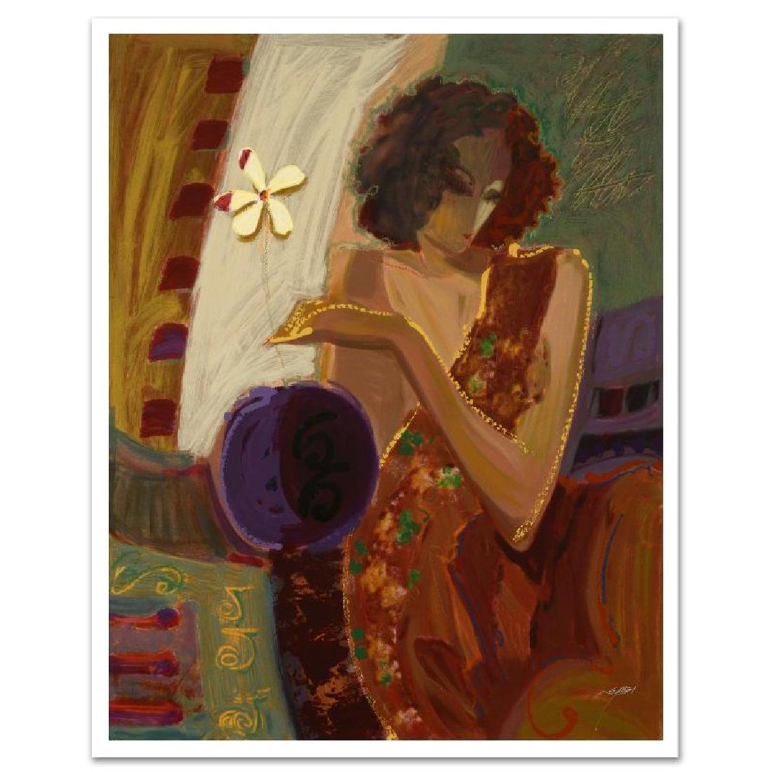 """Exotic Flower"" Limited Edition Serigraph on Canvas by"