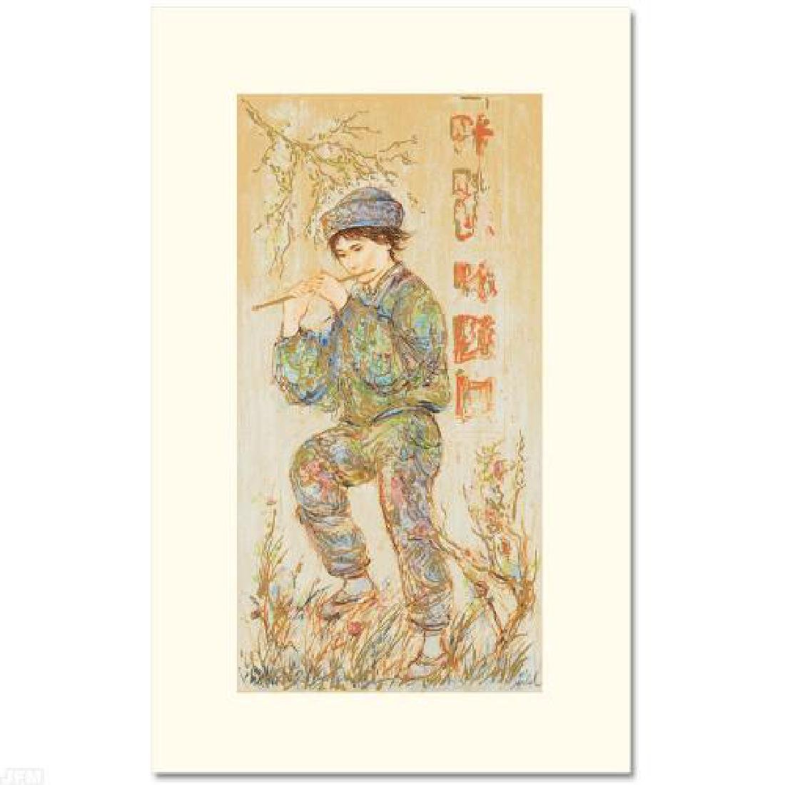 Puck LIMITED EDITION Serigraph by Edna Hibel