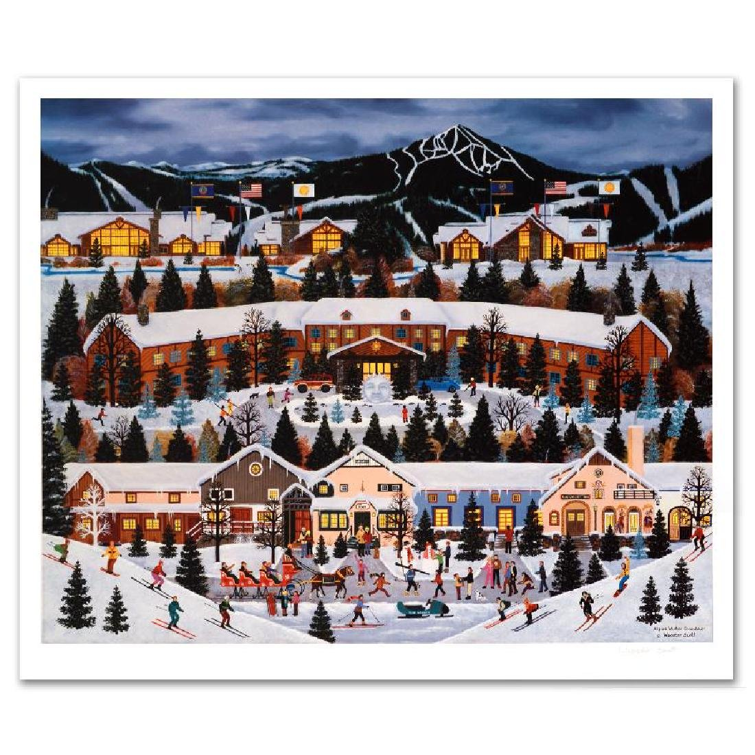 """Alpine Winter Grandeur"" Limited Edition Lithograph by"