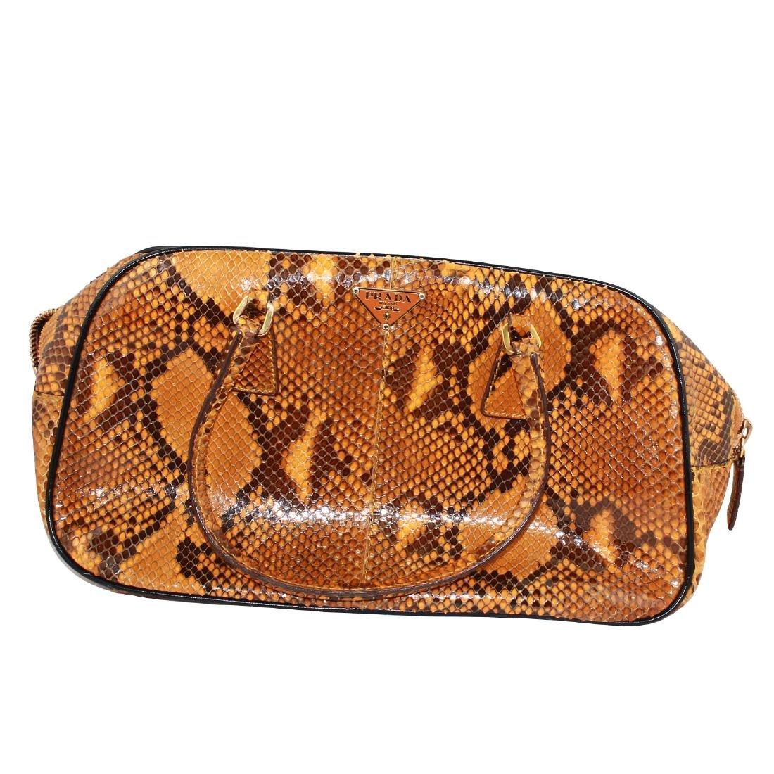 Prada Python Pittone Tote Bag Orange (Melograno)