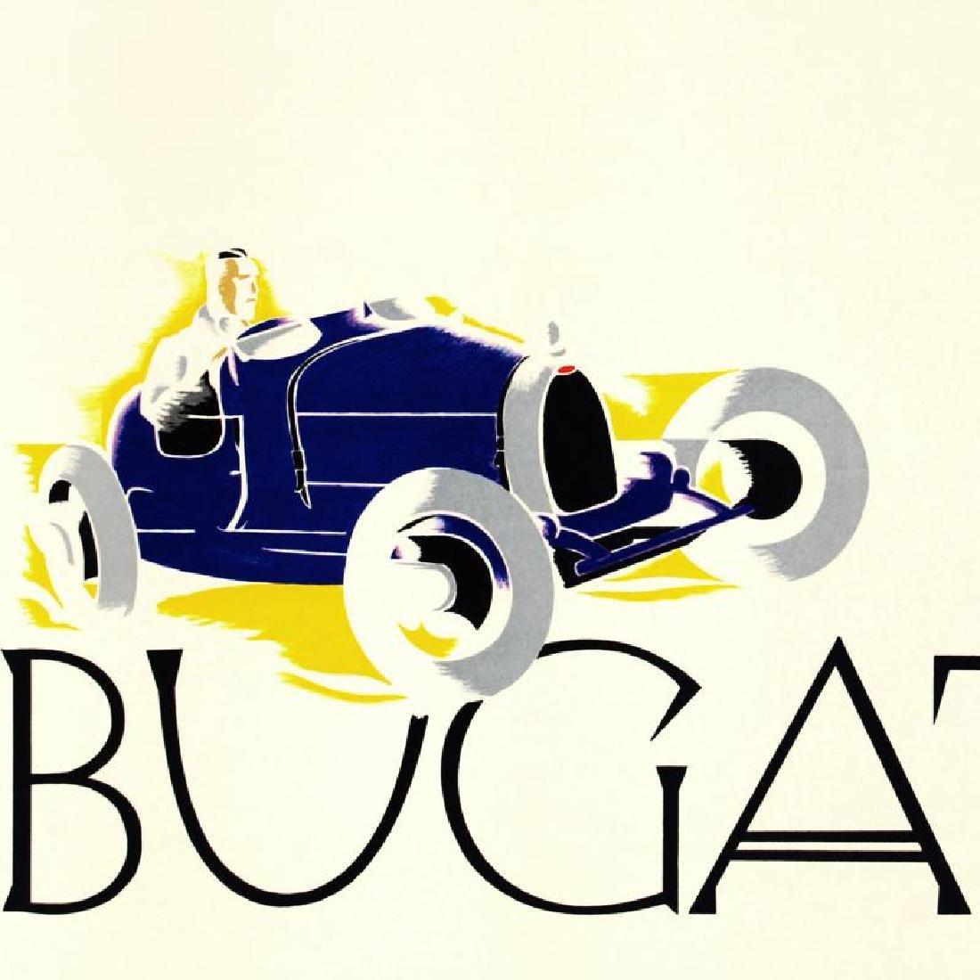 """""""Bugatti: Le Champion du Monde"""" Hand Pulled Lithograph - 2"""