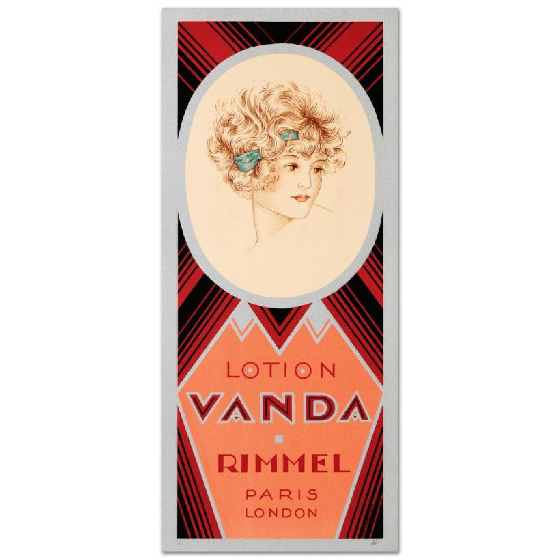 """""""Rimmel-Lotion Vanda"""" Hand Pulled Lithograph by the RE"""