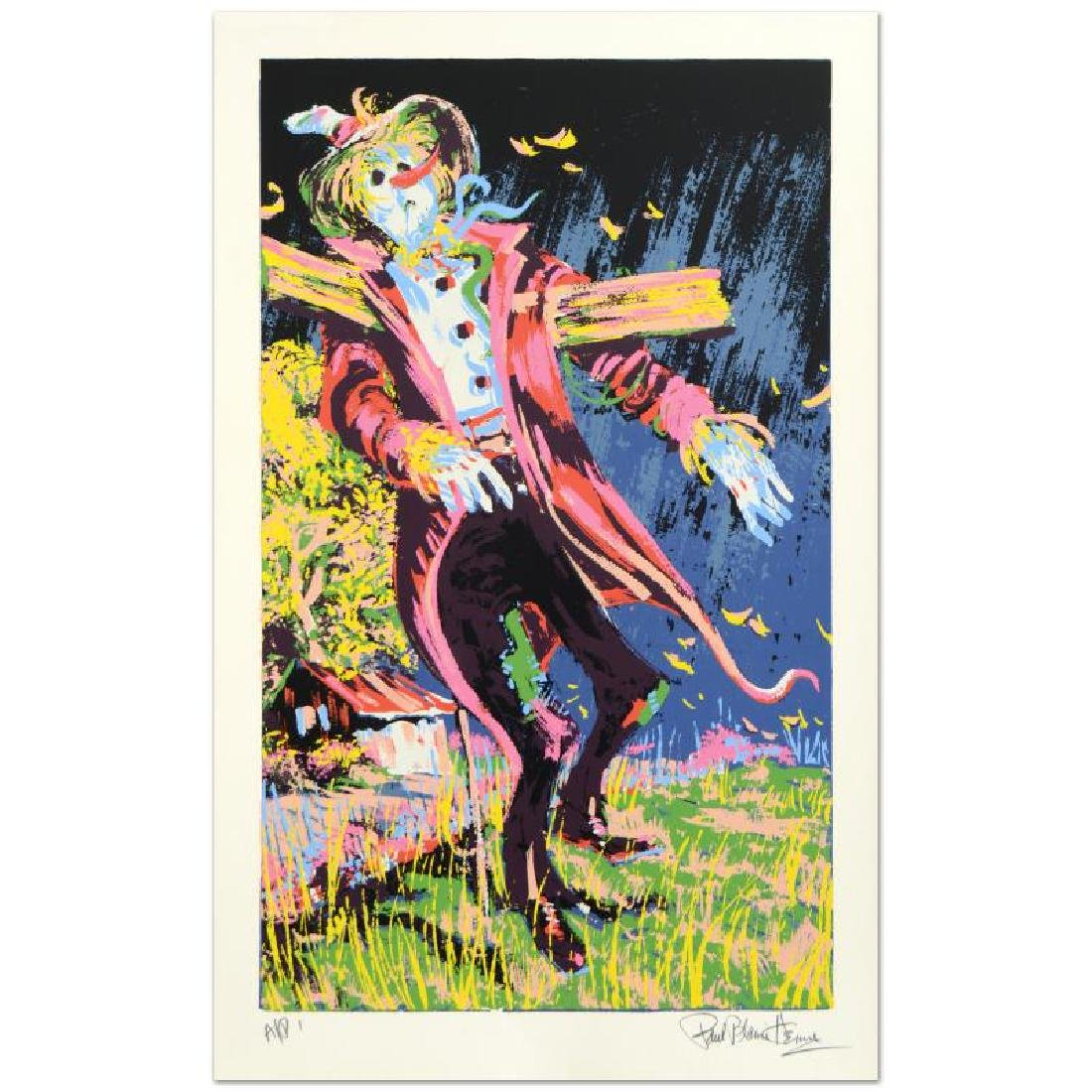 Scare Crow Limited Edition Serigraph by Paul Blaine - 3