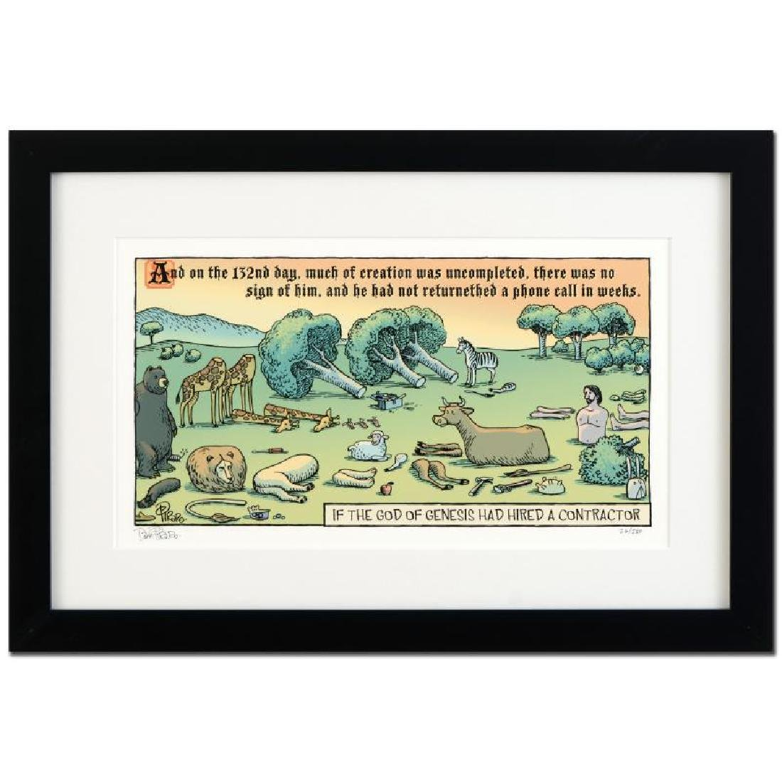 "Bizarro! ""God's Contractor"" is a Framed Limited Edition"