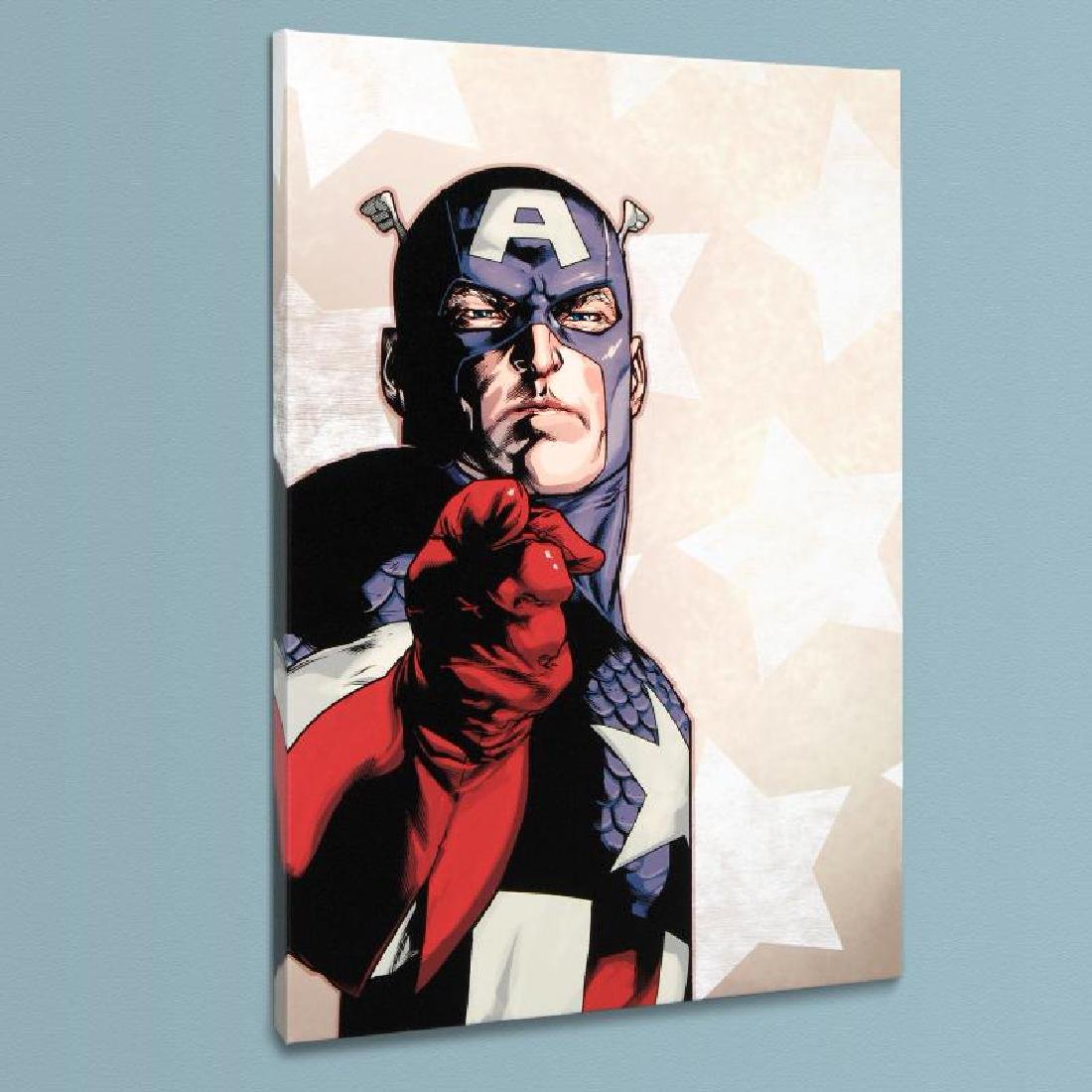 """""""New Avengers #61"""" LIMITED EDITION Giclee on Canvas by"""
