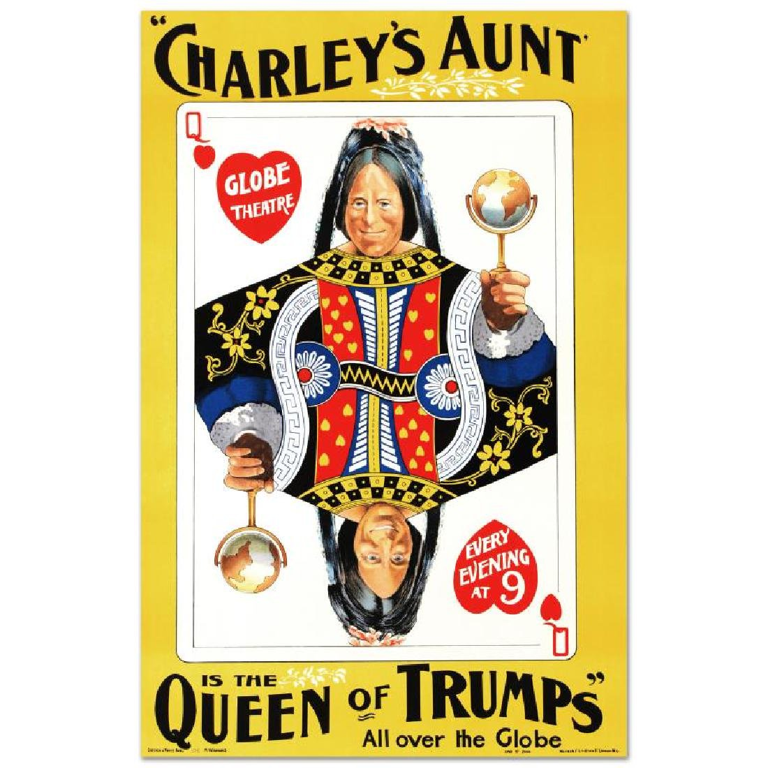"""""""Charley's Aunt"""" Hand Pulled Lithograph by the RE"""