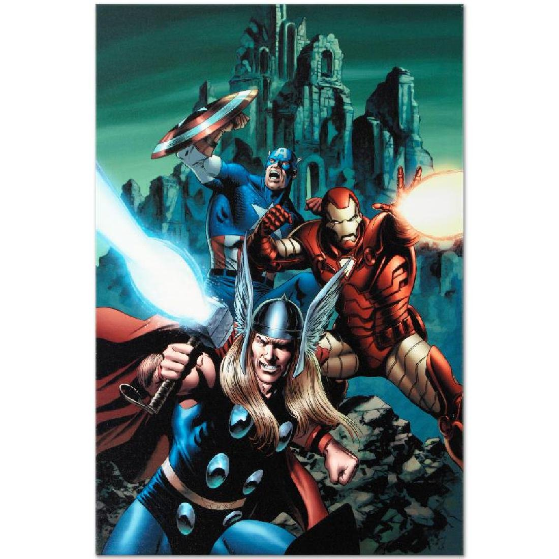 """Thor #81"" Limited Edition Giclee on Canvas by Steve - 3"