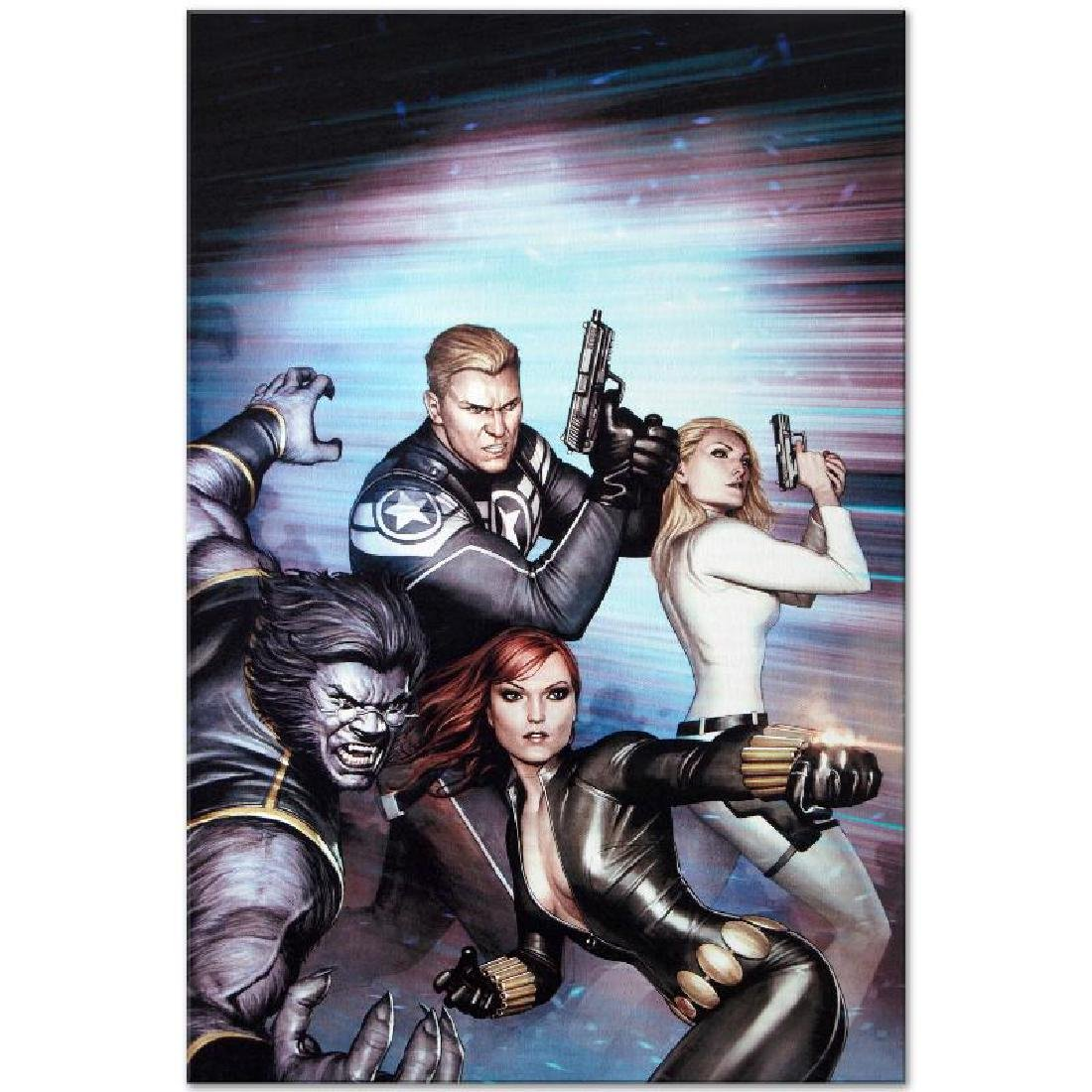 """""""Secret Avengers #13"""" LIMITED EDITION Giclee on Canvas - 2"""