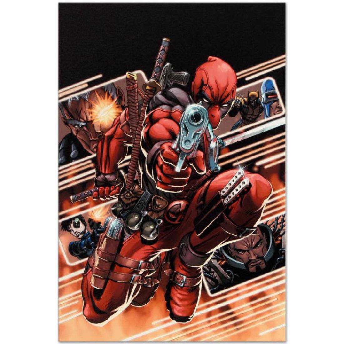 """Cable & Deadpool #9"" Limited Edition Giclee on Canvas - 4"