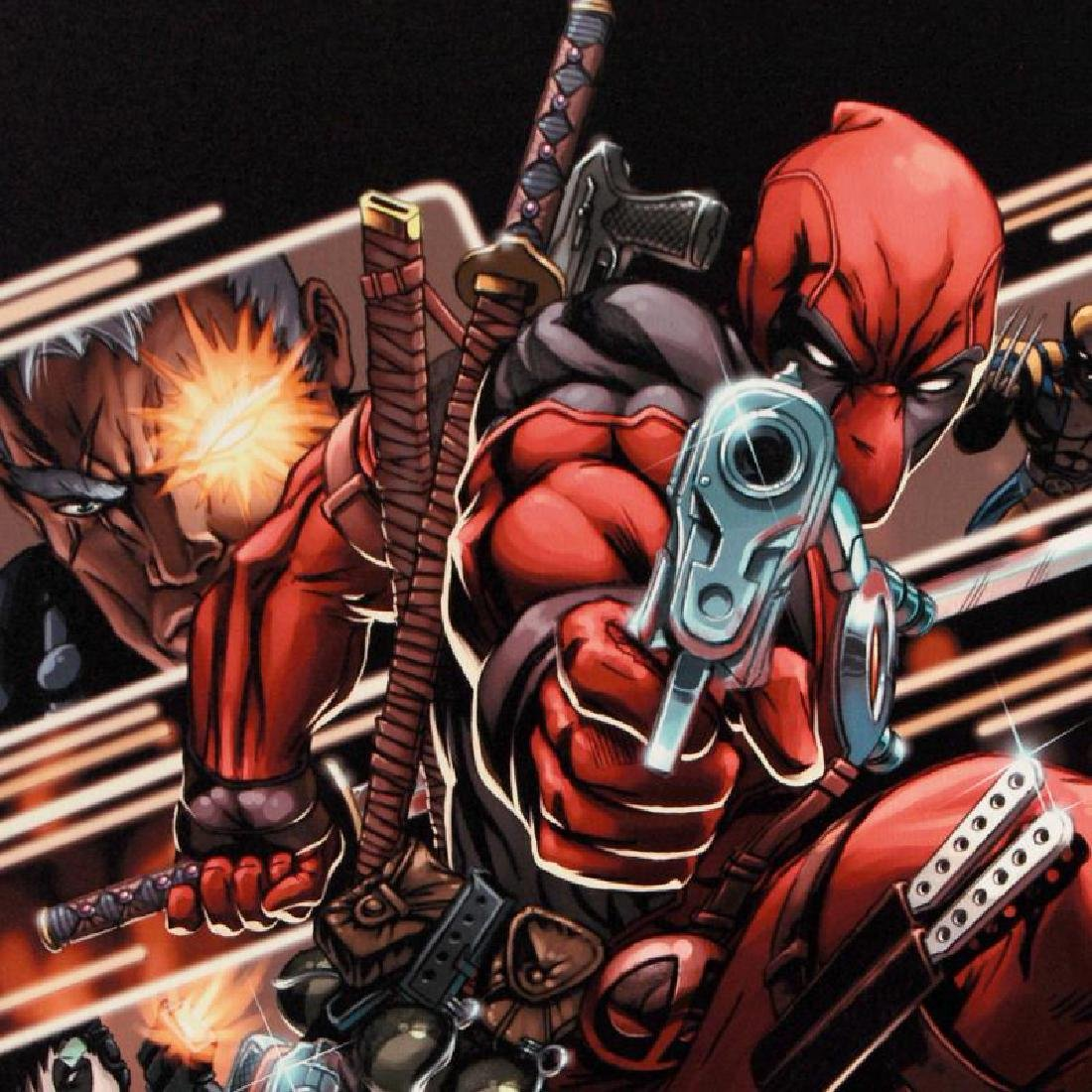 """Cable & Deadpool #9"" Limited Edition Giclee on Canvas - 6"