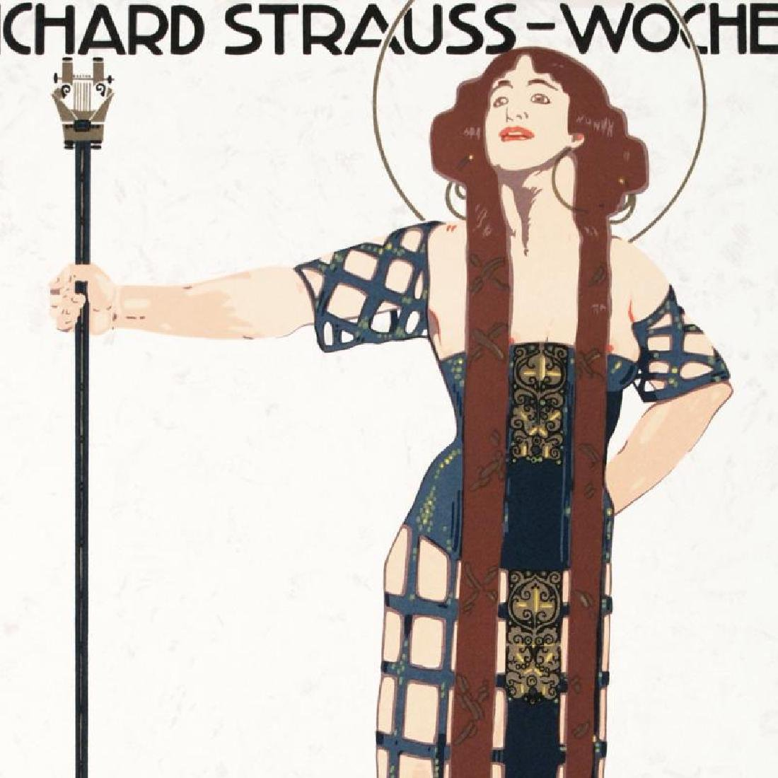 """""""Richard Strauss"""" Hand Pulled Lithograph by the RE - 4"""