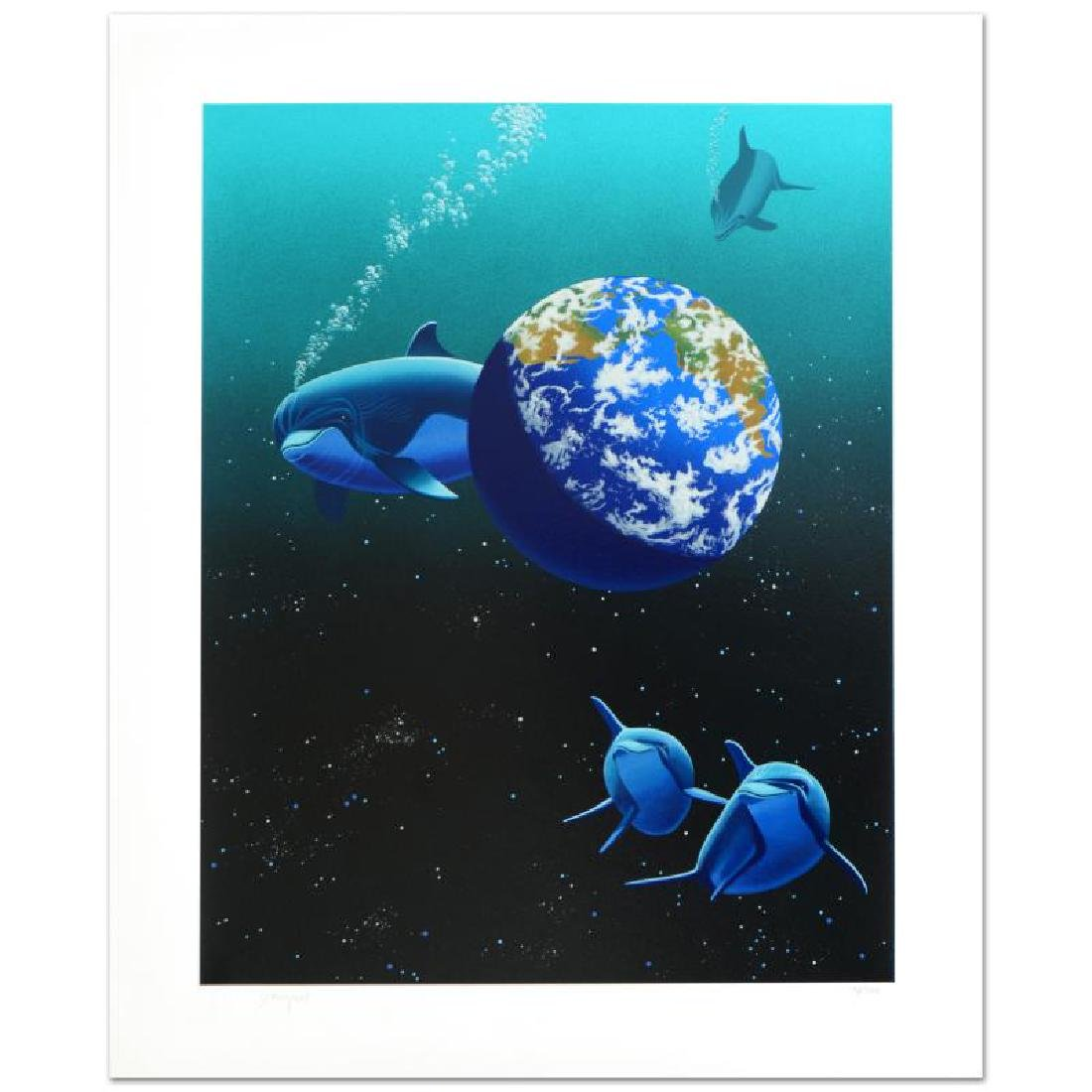 """Our Home Too II (Dolphin)"" Limited Edition Serigraph"