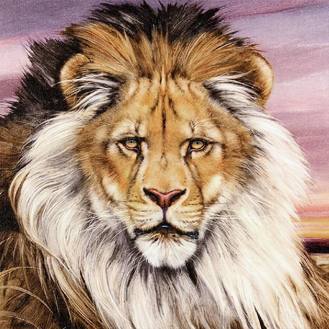 """African Lion"" Limited Edition Giclee on Canvas by - 3"