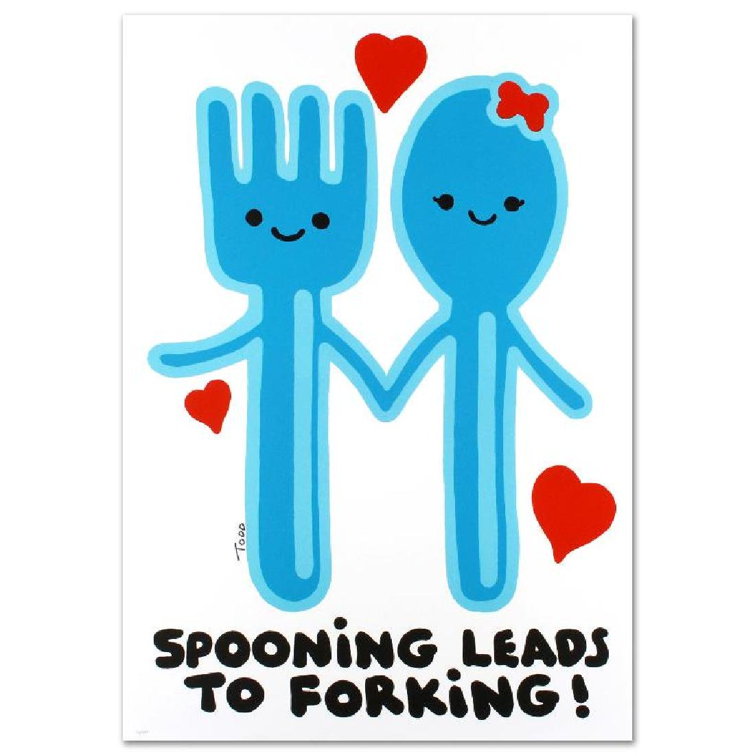 Spooning Leads to Forking Limited Edition Lithograph