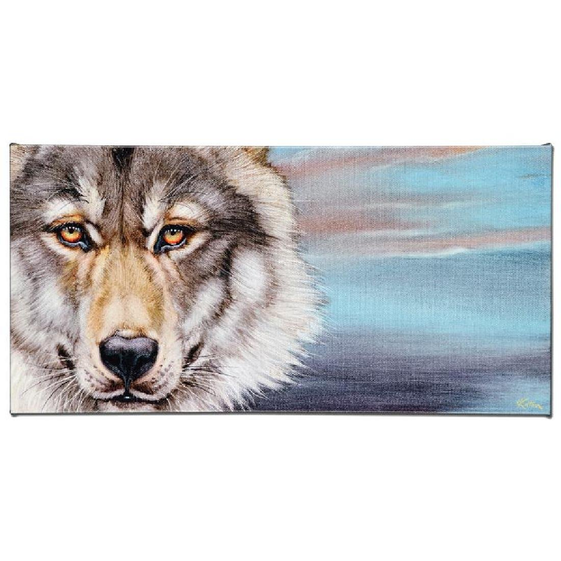 """Wolf"" Limited Edition Giclee on Canvas by Martin Katon - 2"