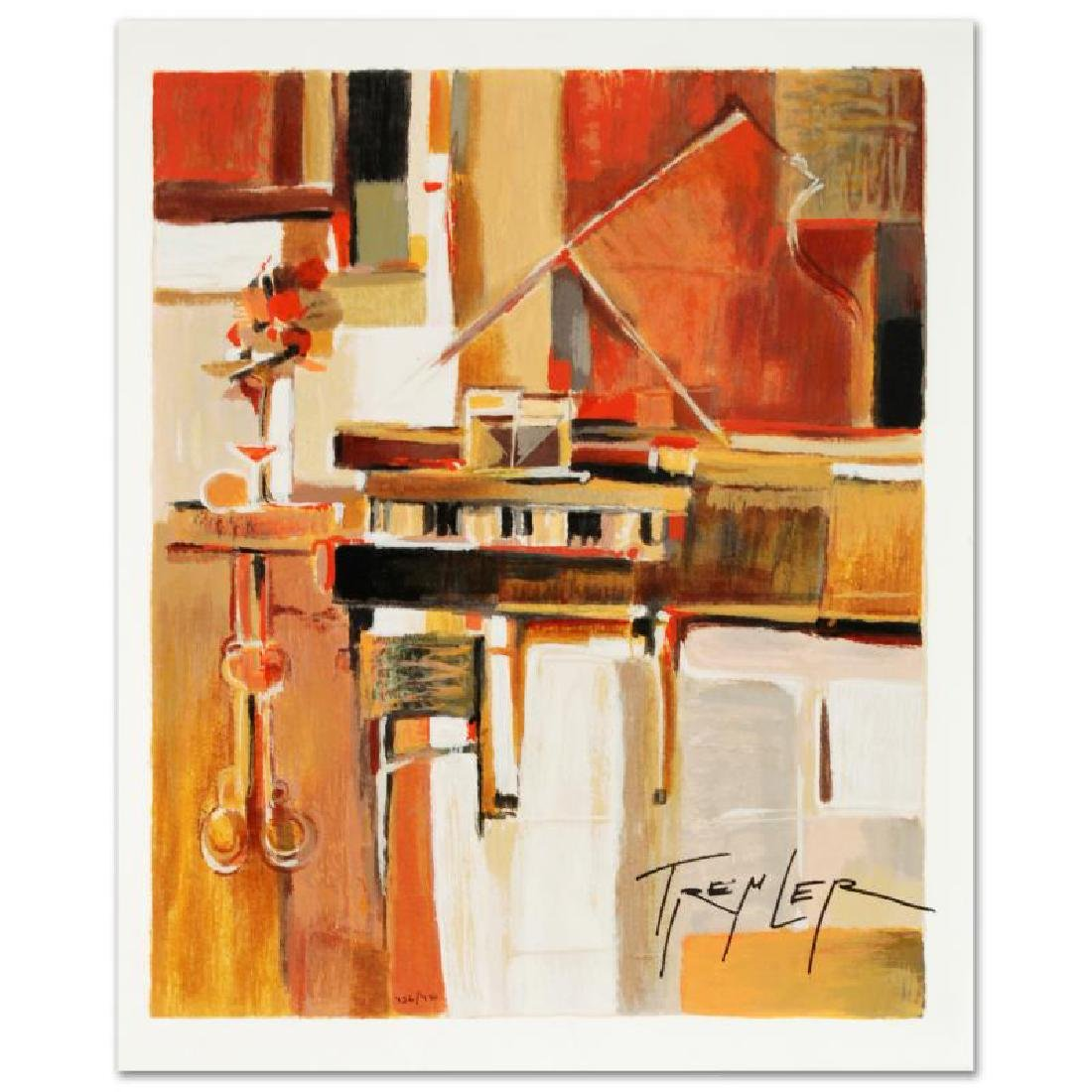 """""""Piano"""" Limited Edition Serigraph by Yuri Tremler"""