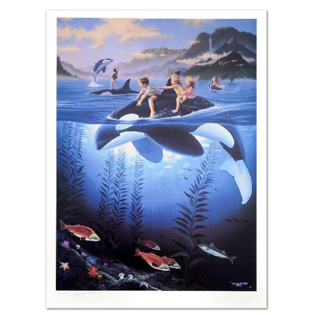 """""""Whale Rides"""" Limited Edition Lithograph by Celebrated"""
