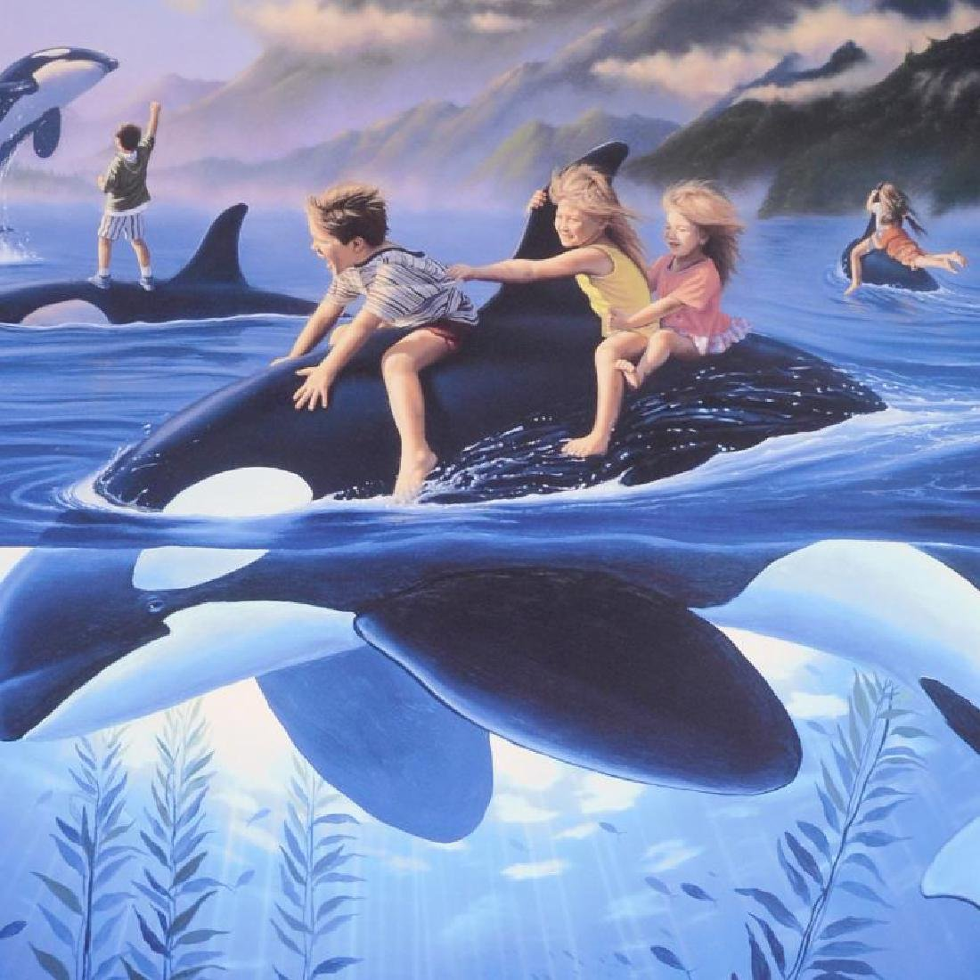 """Whale Rides"" Limited Edition Lithograph by Celebrated - 3"