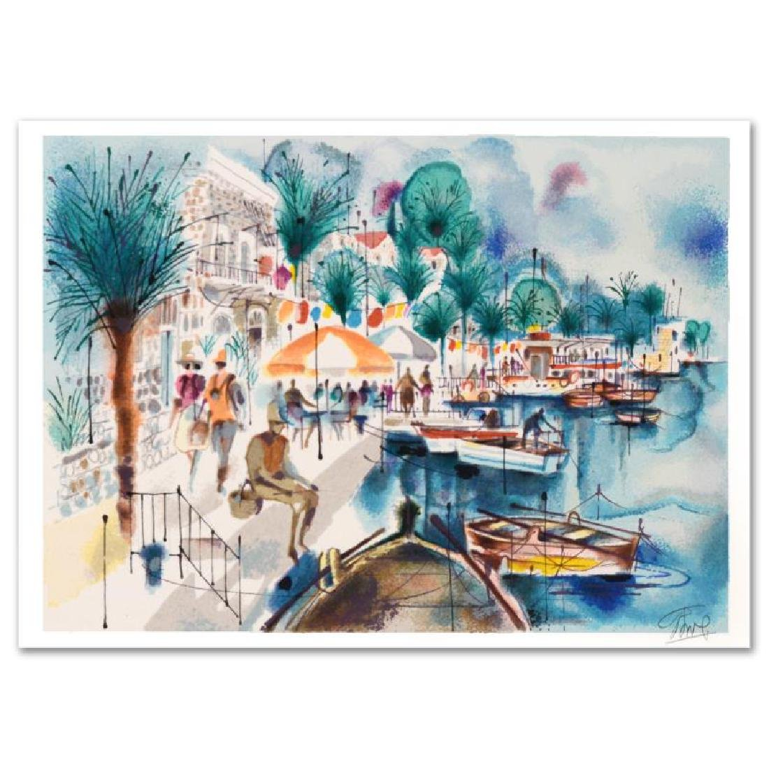 """Tiberias"" Limited Edition Serigraph by Shmuel Katz"