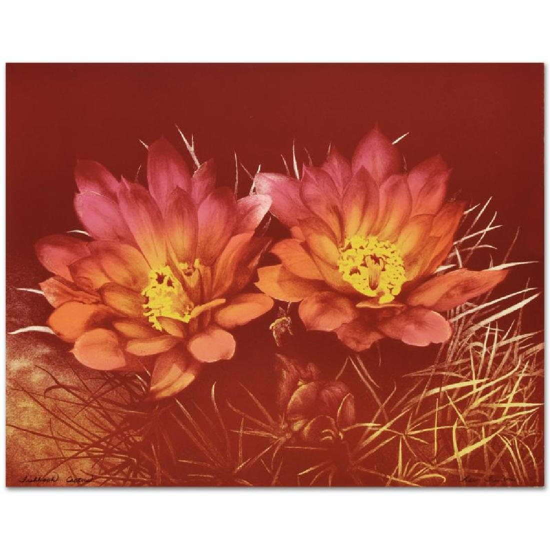 """""""Fishhook Cactus"""" Limited Edition Lithograph by Lee"""