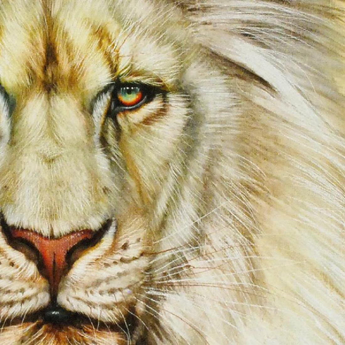 """White Lion"" Limited Edition Giclee on Canvas by Martin - 3"
