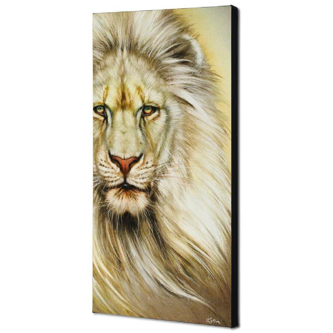 """White Lion"" Limited Edition Giclee on Canvas by Martin - 4"
