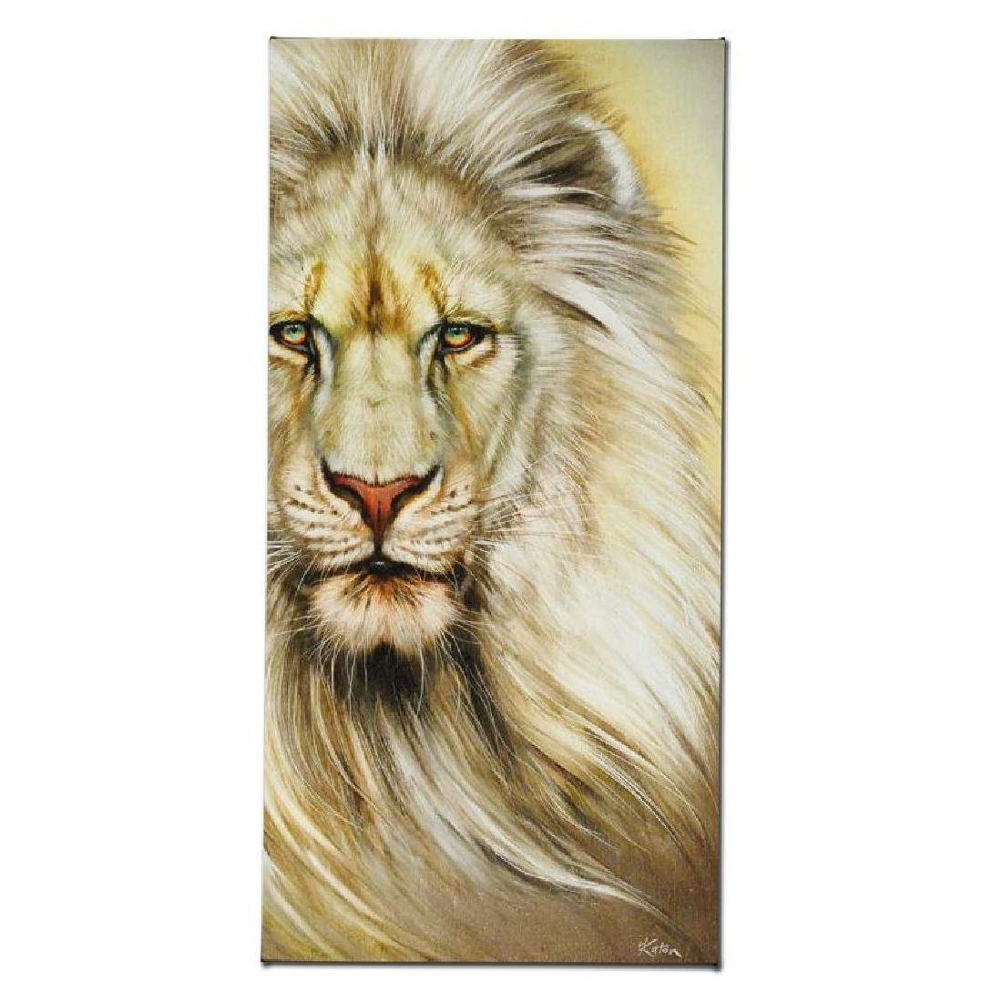 """White Lion"" Limited Edition Giclee on Canvas by Martin - 5"