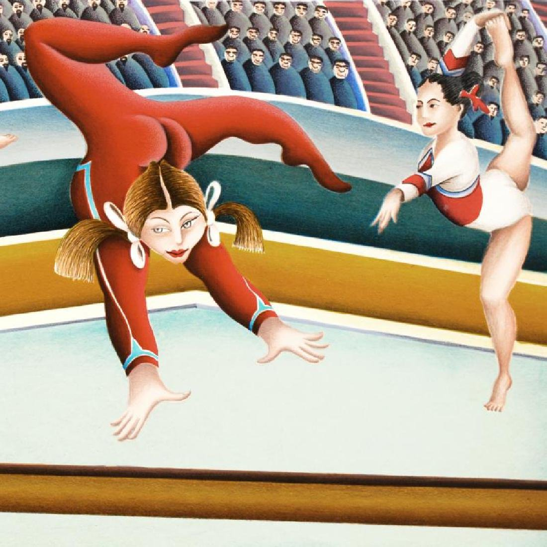 """""""Gymnast"""" Limited Edition Lithograph By Yuval Mahler - 3"""