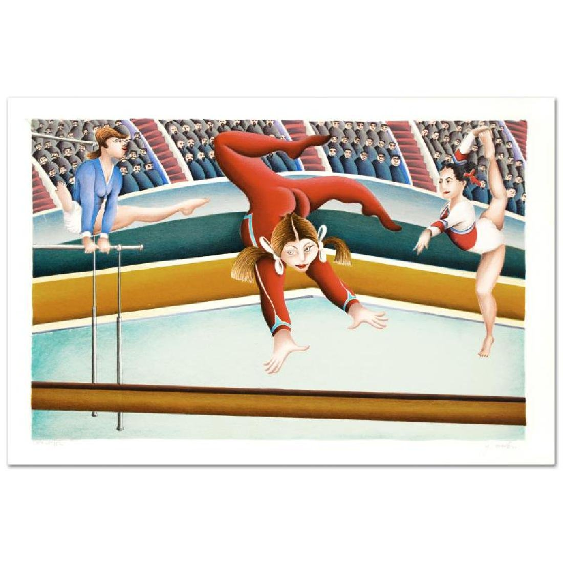 """""""Gymnast"""" Limited Edition Lithograph By Yuval Mahler - 4"""
