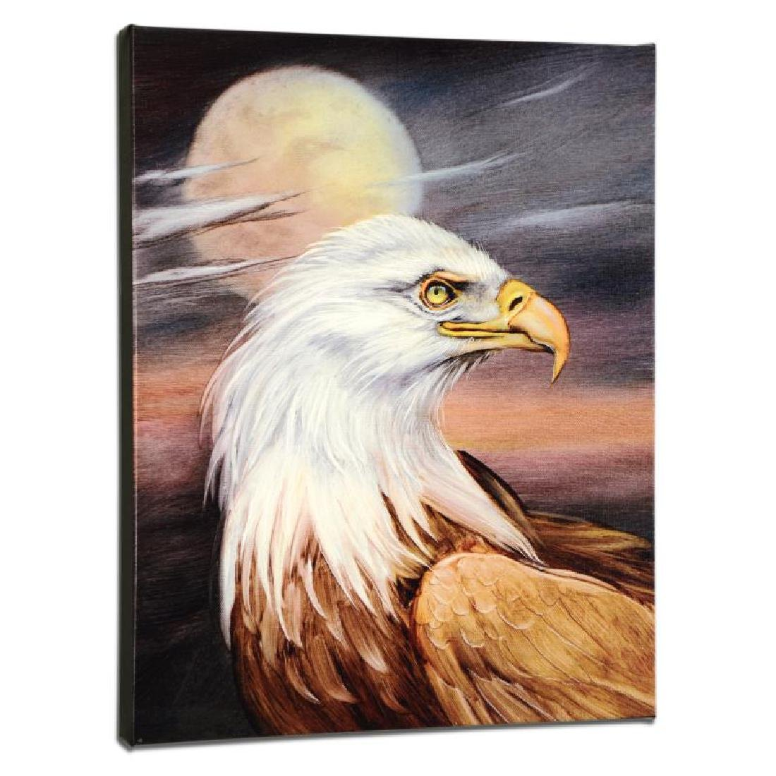"""""""Eagle Moon"""" Limited Edition Giclee on Gallery Wrapped"""