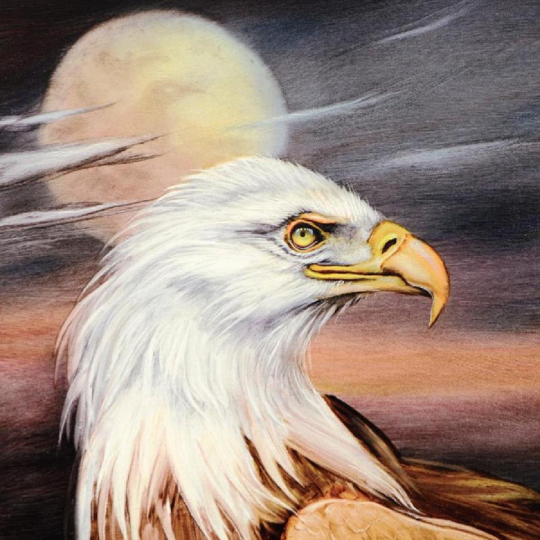 """Eagle Moon"" Limited Edition Giclee on Gallery Wrapped - 6"