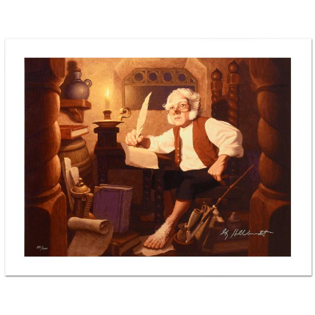 """""""Bilbo At Rivendell"""" Limited Edition Giclee on Canvas"""