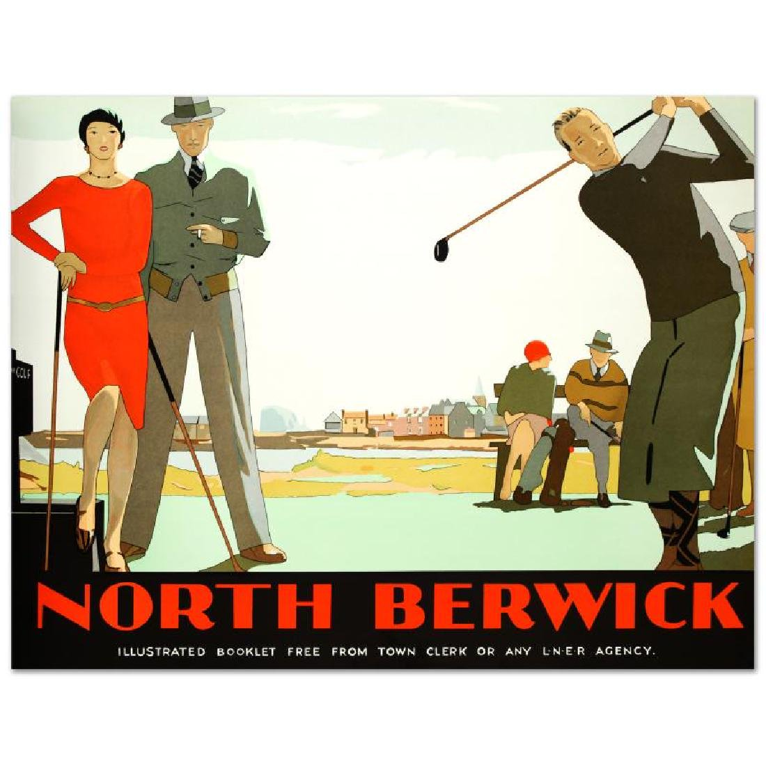 """""""North Berwick"""" Hand Pulled Lithograph (46"""" x 36"""") by"""