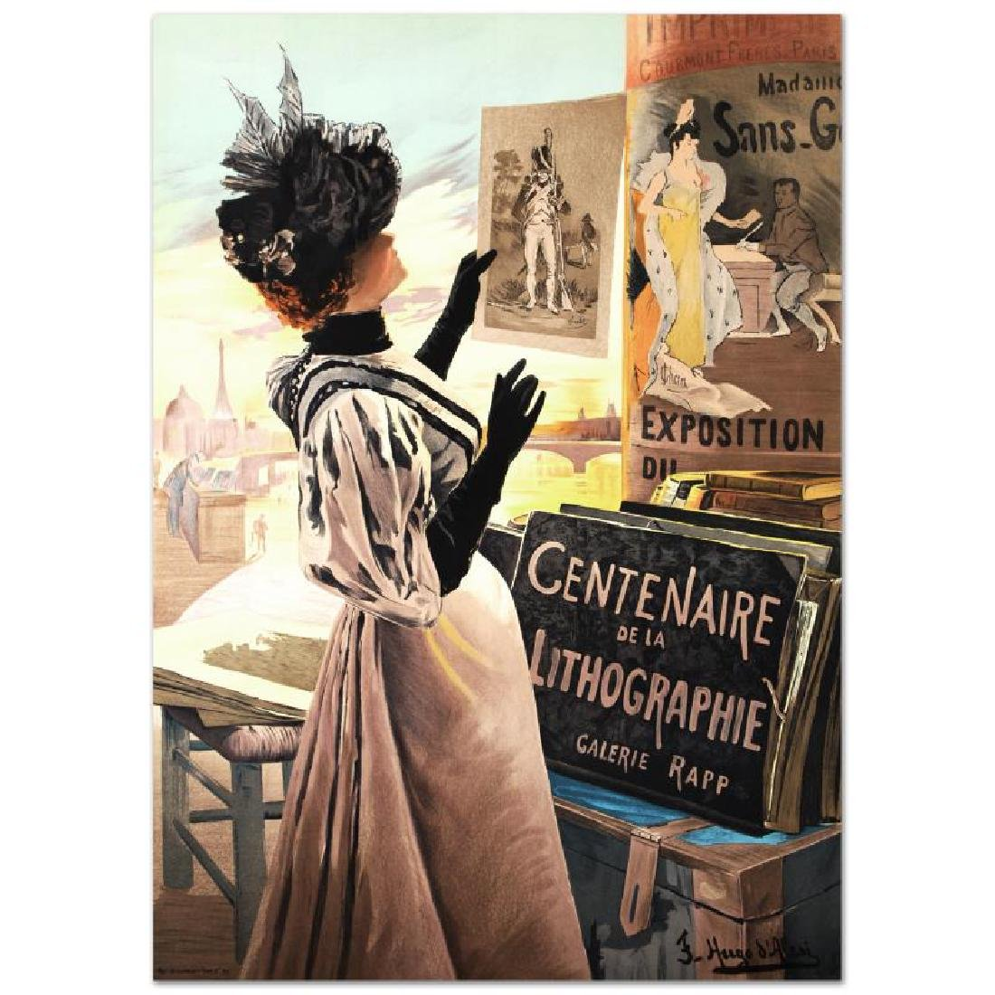 """""""Exposition Du Centenaire"""" Hand Pulled Lithograph by"""