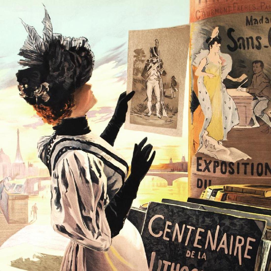 """Exposition Du Centenaire"" Hand Pulled Lithograph by - 4"