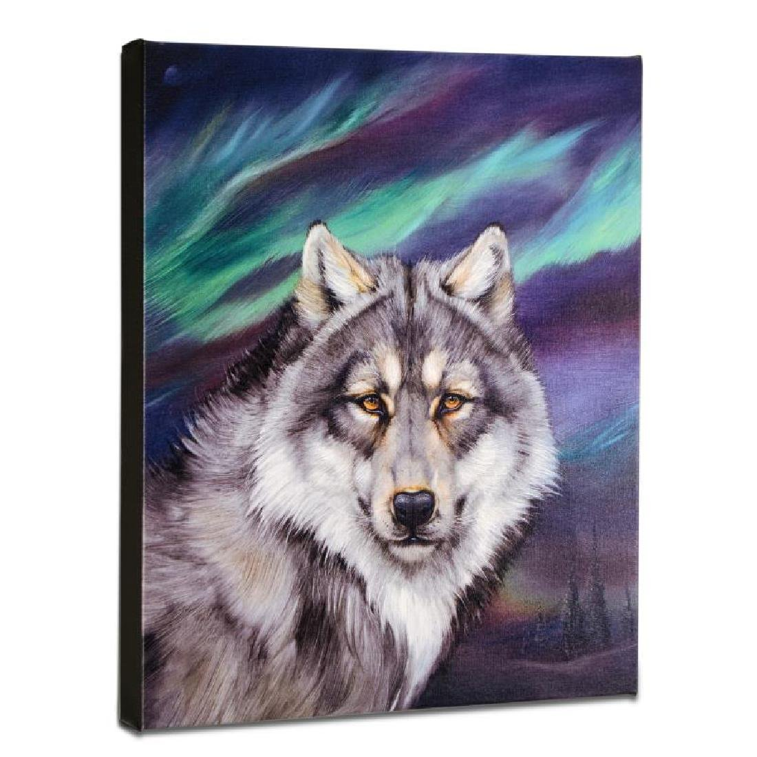 """Wolf Lights II"" Limited Edition Giclee on Gallery"