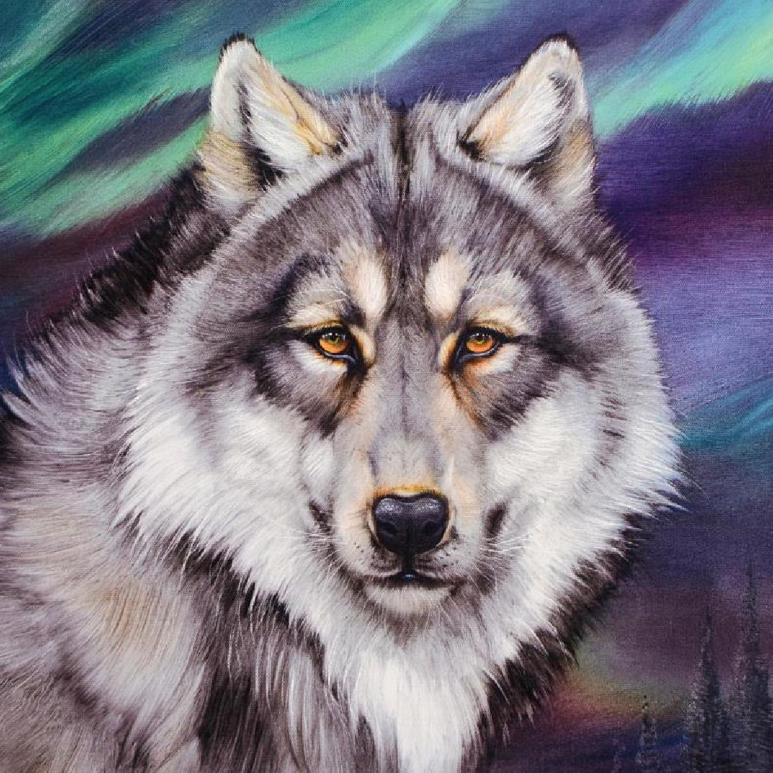 """Wolf Lights II"" Limited Edition Giclee on Gallery - 3"